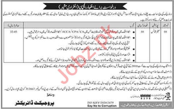 Project Management Unit PMU Karachi Jobs 2020