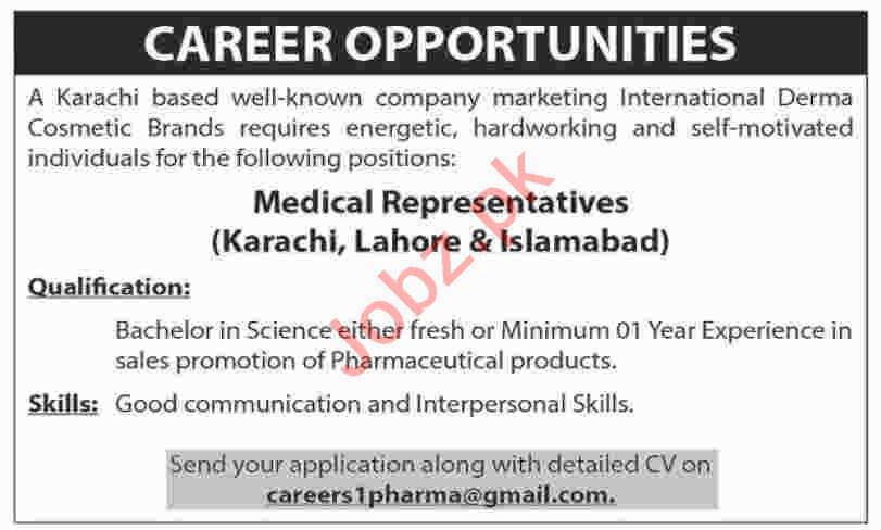 Medical Representative Jobs 2020 in Karachi