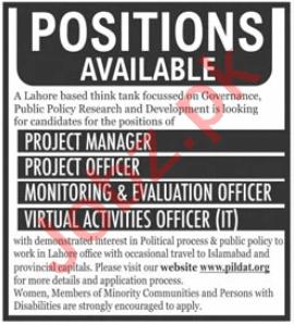 Pakistan Institute of Legislative Development PILDAT Jobs