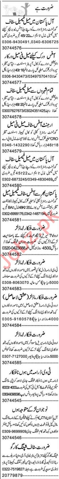 Computer Operator & Telephone Operator Jobs 2020 in Multan