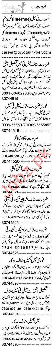 Customer Services Officer & Admin Manager Jobs 2020