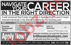 Business Development Officer Jobs in Kaneez Developers