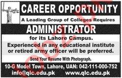 Quaid e Azam Law College QLC Lahore Jobs 2020