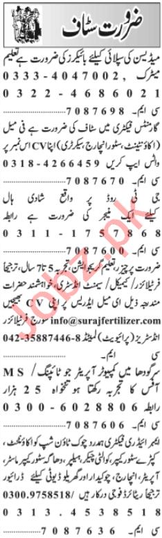 Store Incharge & Secretary Jobs 2020 in Lahore