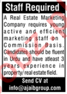 Real Estate Manager & Estate Agent Jobs 2020 in Islamabad