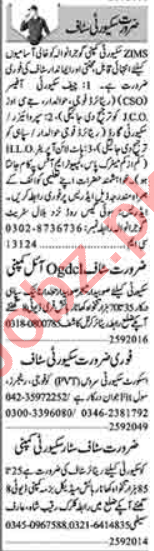 Security Supervisor & Security Incharge Jobs 2020 in Lahore