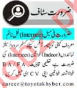 Customer Service Officer & HR Officer Jobs 2020 in Peshawar