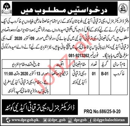 Rural Development Academy RDA Quetta Jobs 2020