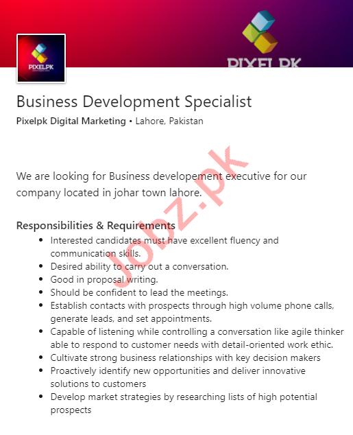Pixelpk Digital Marketing Jobs Business Development Officer