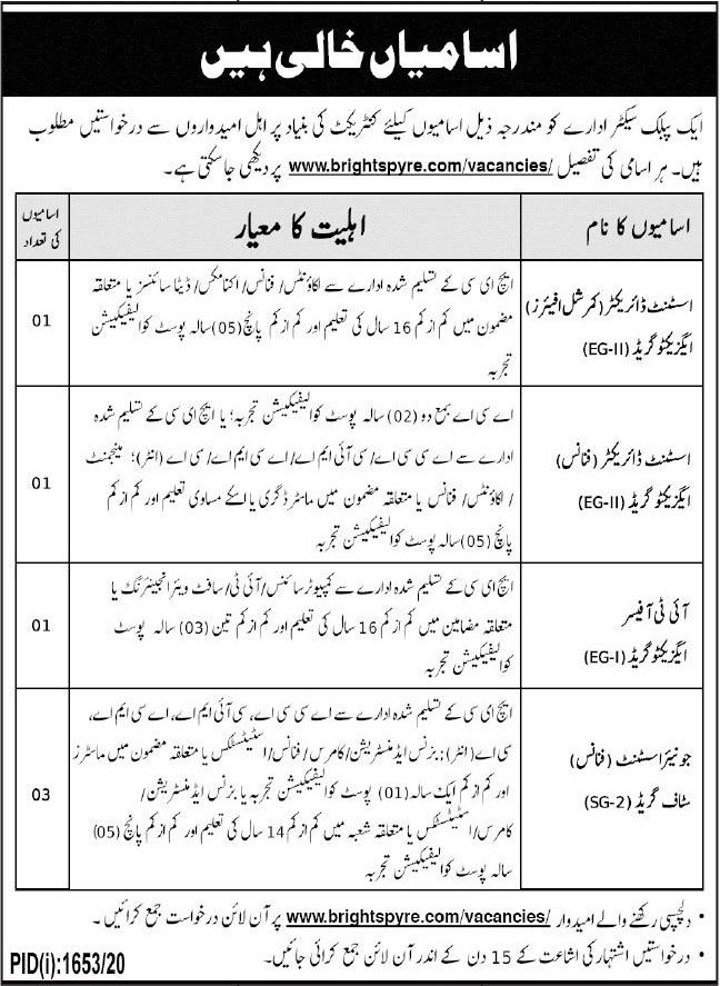 Public Sector Organization Jobs 2020 in Quetta