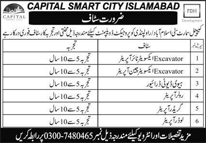 Capital Smart City Jobs 2020 in Rawalpindi & Islamabad