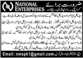 National Enterprises Jobs in Karachi Peshawar Rawalpindi