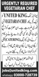 Vegetarian Chef Job 2020 in Karachi