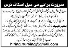 Staff Nurse Job 2020 For School in Karachi