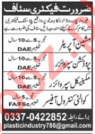 Mechanical Supervisor & Quality Control Officer Jobs 2020