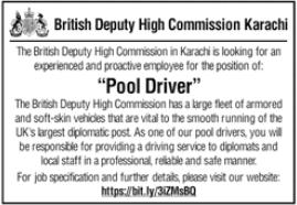 British Deputy High Commission Job 2020 in Karachi
