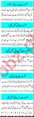 Mashriq Sunday Classified Ads 27 Sept 2020 for Teachers