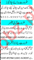 Mashriq Sunday Classified Ads 27 Sept 2020 for Office Staff