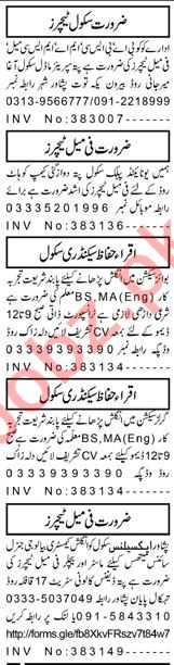 Aaj Sunday Classified Ads 27 Sept 2020 for Teaching Staff