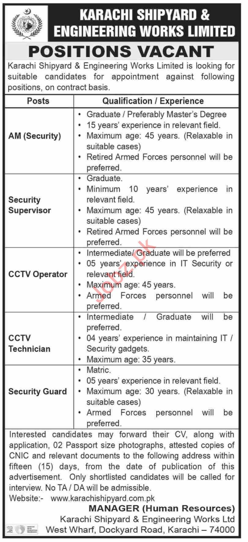 Karachi Shipyard & Engineering Works Karachi Jobs 2020