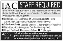 Ideal Automation & Control IAC Jobs 2020 in Rawalpindi