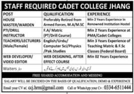 Pakistan Army Cadet College Jobs 2020 in Jhang