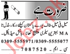 Data Entry Operator & Computer Operator Jobs 2020 in Lahore