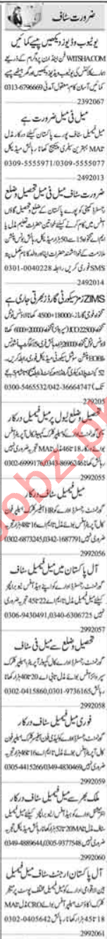 Assistant Manager & Call Operator Jobs 2020 in Islamabad