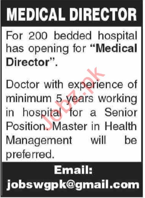 Medical Director & Medical Consultant Jobs 2020 in Karachi