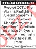 Assistant Manager Projects & Operations Jobs 2020