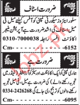Account Manager & Sales Coordinator Jobs 2020 in Balochistan
