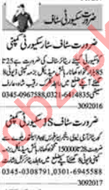 Security Incharge & Security Foreman Jobs 2020 in Lahore