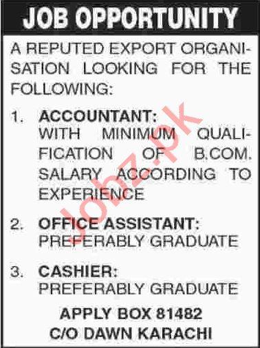 Accountant & Office Assistant Jobs 2020 in Karachi