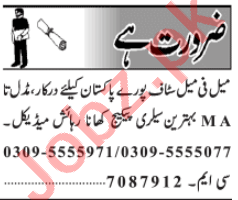 Male & Female Staff Jobs 2020 in Lahore