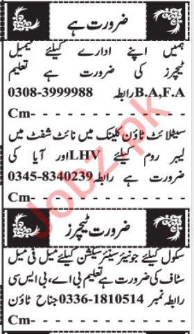 Subject Specialist & Teacher Jobs 2020 in Quetta