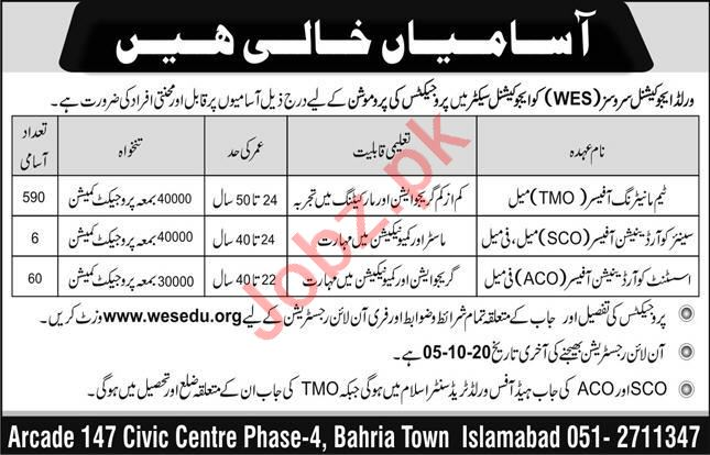 World Educational Services WES Islamabad Jobs 2020