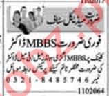 MBBS Doctor & Female Medical Officer Jobs 2020