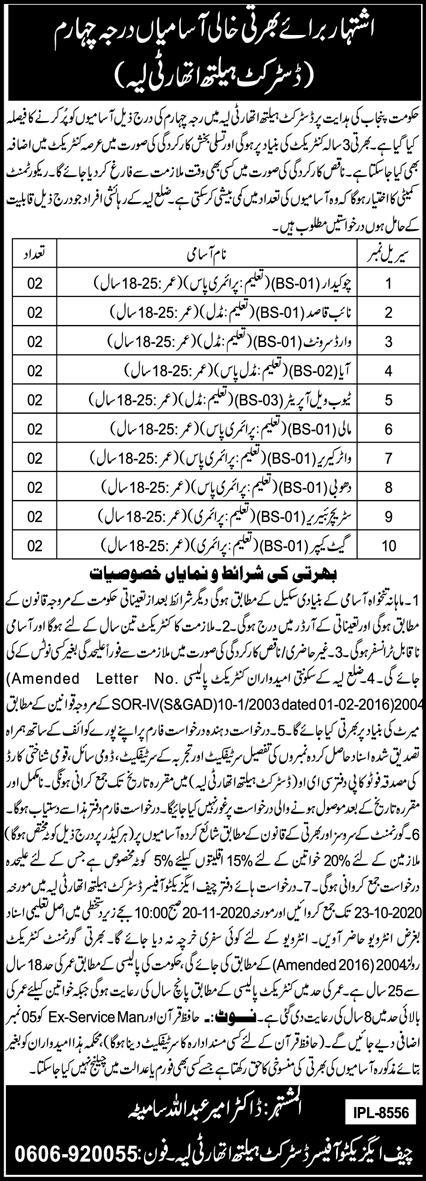 District Health Authority Jobs 2020 in Layyah 2020 Job ...