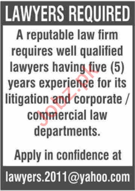Lawyer & Advocate Jobs 2020 in Karachi