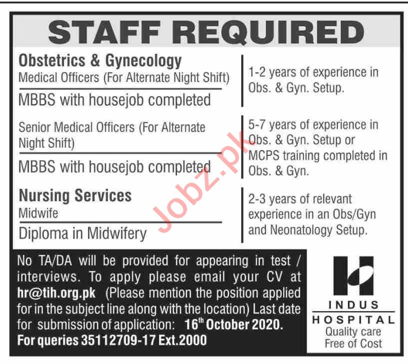 The Indus Hospital TIH Jobs 2020 for Medical Consultant