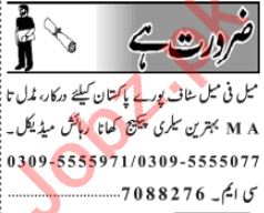 Call Operator & Receptionist Jobs 2020 in Lahore