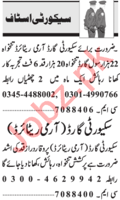 Security Manager & Security Incharge Jobs 2020 in Lahore