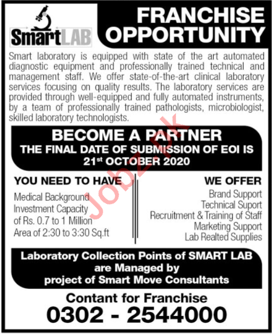 Smart Move Consultants Lahore Jobs 2020 for Distributors