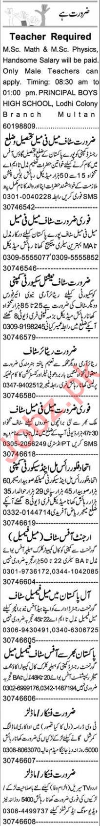 Branch Manager & Teacher Jobs 2020 in Multan