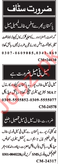 Assistant Manager & Telephone Operator Jobs 2020