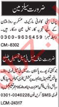 Salesman & Branch Manager Jobs 2020 in Multan