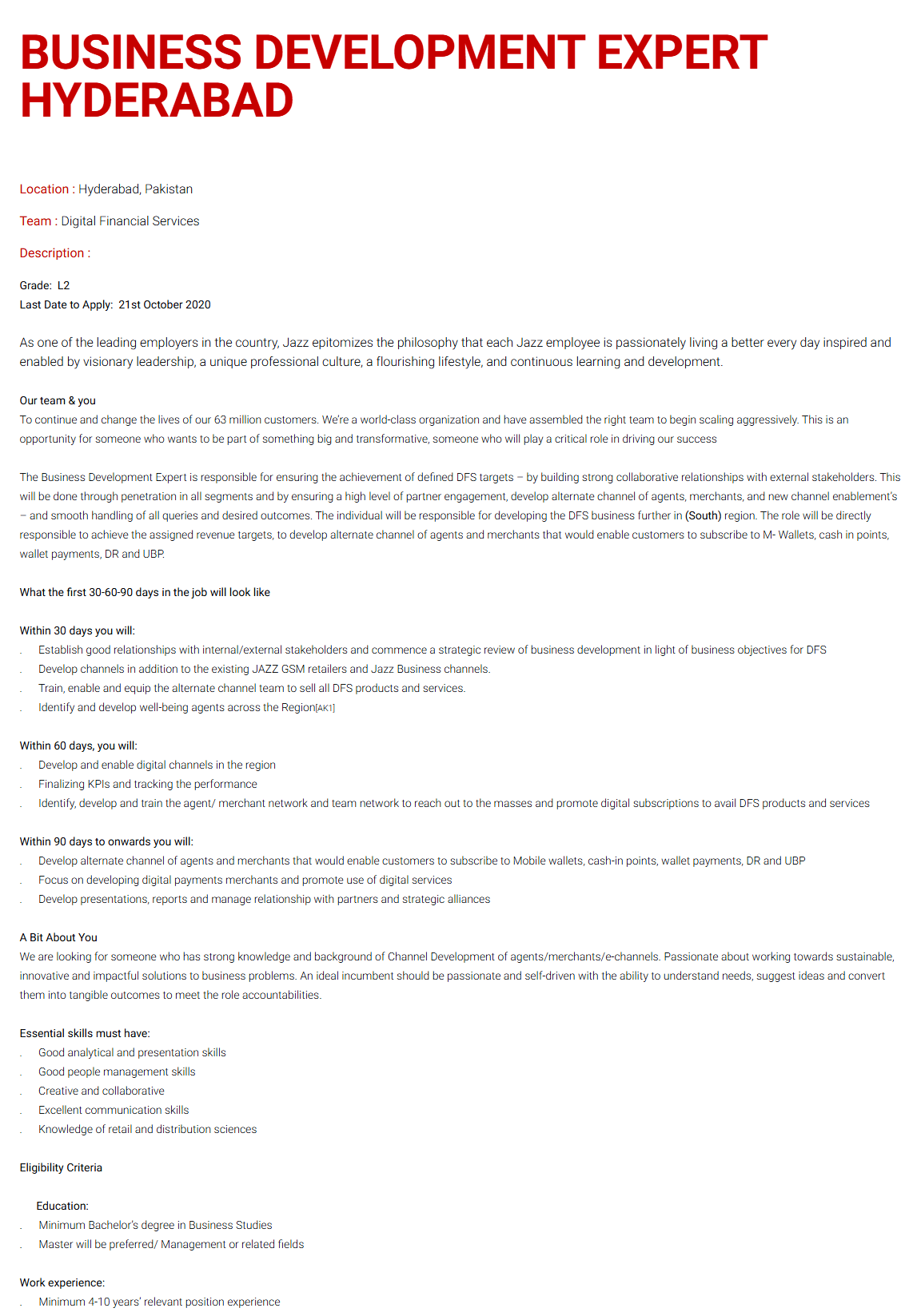 Business Development Expert Jobs 2020 in Hyderabad