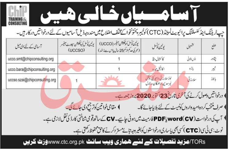 CHIP Training & Consulting Pvt Ltd NGO Jobs 2020