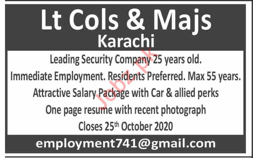 Administrator & Security Officer Jobs 2020 in Karachi