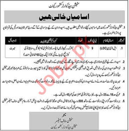 Pakistan Army Station Headquarter Kashmore Cantt Jobs 2020